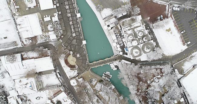 Konya'dan kar manzaraları