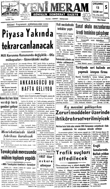 13 Kasım 2020 Yeni Meram Gazetesi
