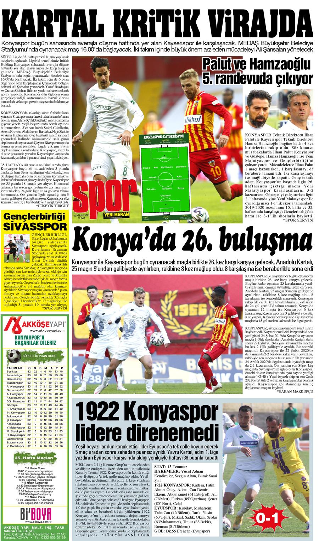 16 Nisan 2021 Yeni Meram Gazetesi