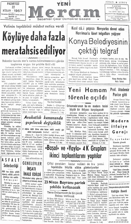 22 Nisan 2021 Yeni Meram Gazetesi