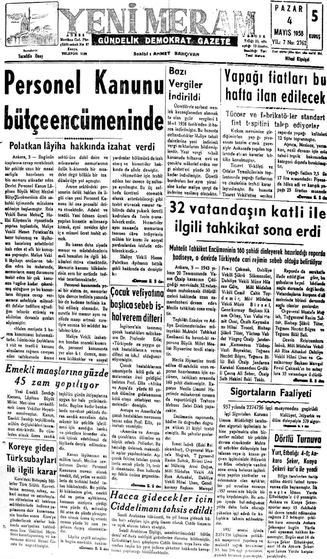 4 Mayıs 2021 Yeni Meram Gazetesi