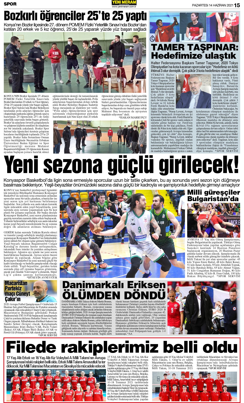 14 Haziran 2021 Yeni Meram Gazetesi