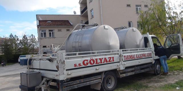 Cihanbeyli'de süt toplama araçlarına mobil takip