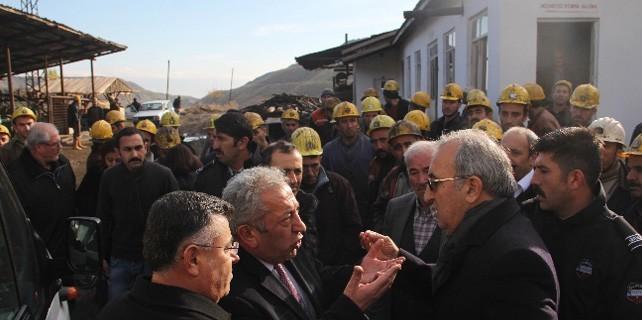 Maden sahibi ve CHP'liler arasında gerginlik