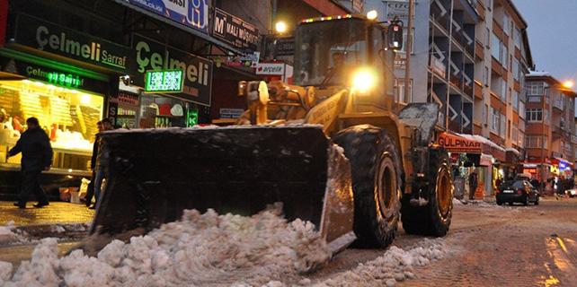 Seydişehir Belediyesi kar temizleme çalışmaları