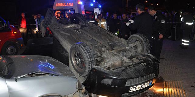 Adana'da Kaza anı güvenlik kamerasına yansıdı