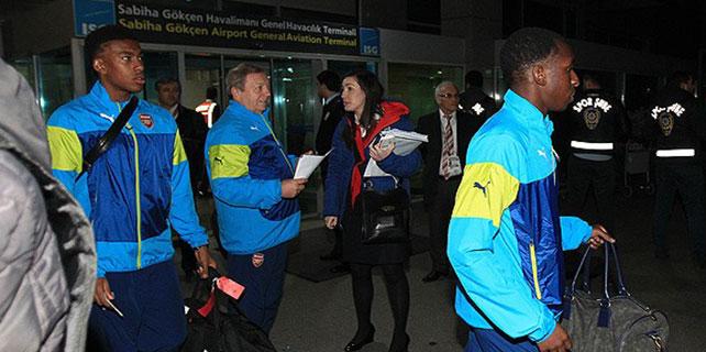 Arsenal İstanbul'a geldi.