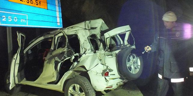 Artvin'de trafik kazası: 2 ölü, 4 yaralı