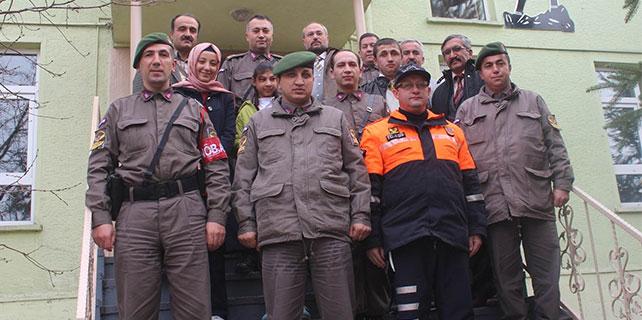 Beyşehir'de özel öğrencilerden jandarmaya ziyareti