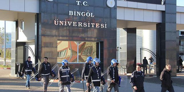 Bingöl Üniversitesi'nde izinsiz gösteri