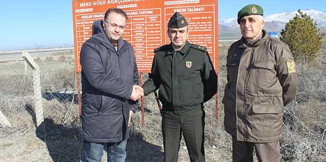 """Karapınar'daki """"TSK Hatıra Ormanı"""" devredildi"""