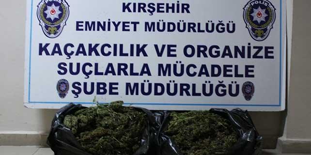 Kırşehir'de 6 kilogram esrar ele geçirildi