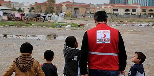 Kızılay'dan Iraklı Türkmenlere yardım
