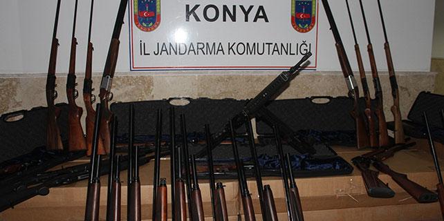 Konya'da 119 tüfek ele geçirildi