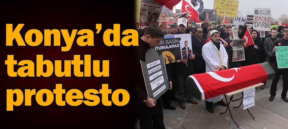 Konya'da tabutlu protesto