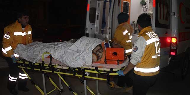 Konya'da tırla otomobil çarpıştı: 2 yaralı