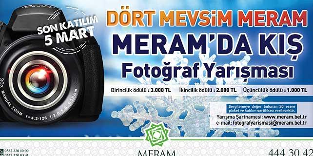 'Meram'da kış' fotoğraf yarışması