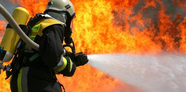 Samsun'da iş yeri yangını