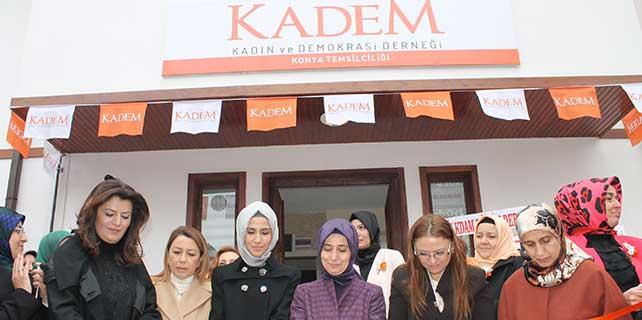 Sare Davutoğlu Konya Kadem binasının açılışını yaptı