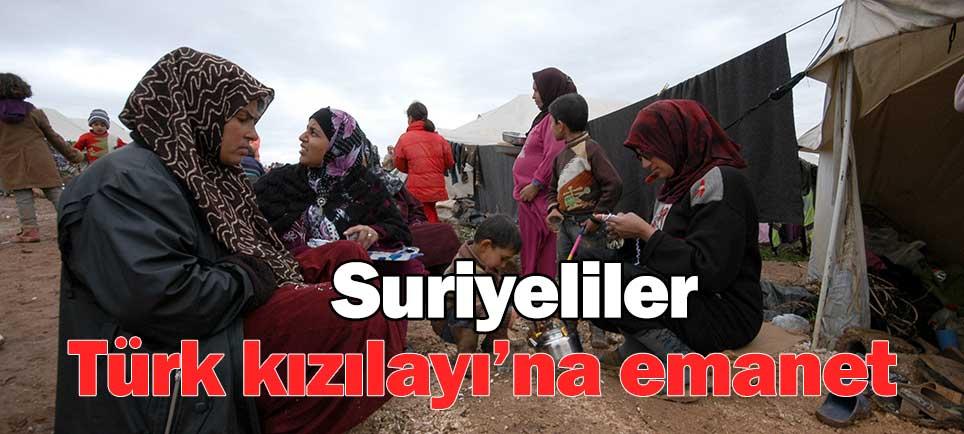 Suriyeliler, Türk Kızılayı'na emanet
