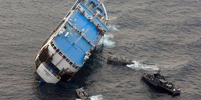 Türk kargo gemisi battı: 11 kişi kayıp