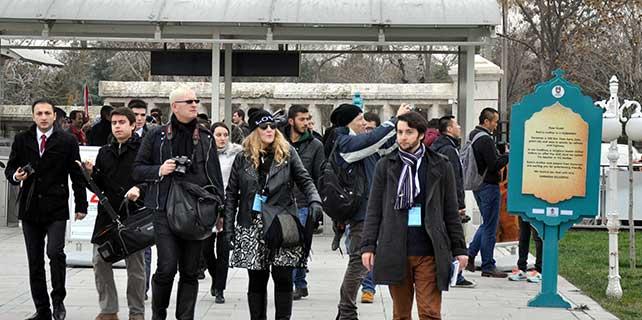 Yabancı gazeteciler Mevlana için Konya'da