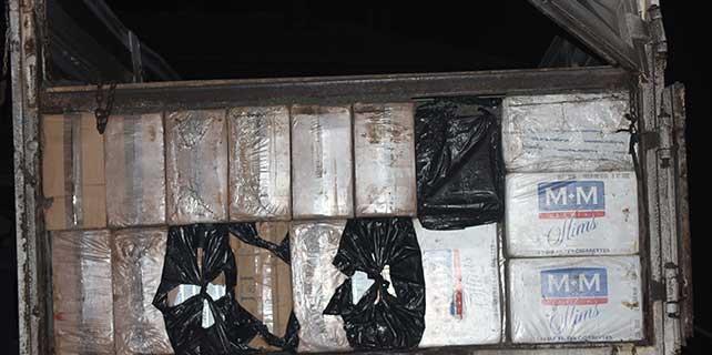 136 bin paket kaçak sigara ele geçirildi