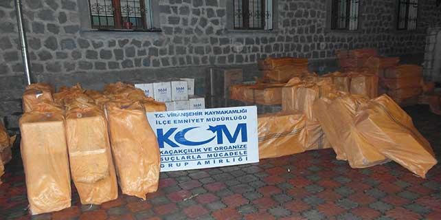 137 bin 800 paket kaçak sigara ele geçirildi
