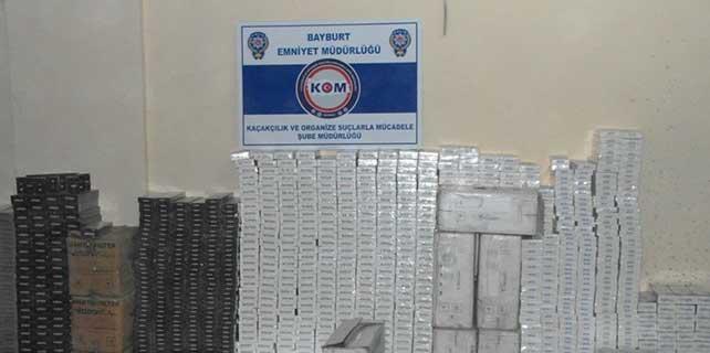 16 Bin 959 paket kaçak sigara ele geçirildi