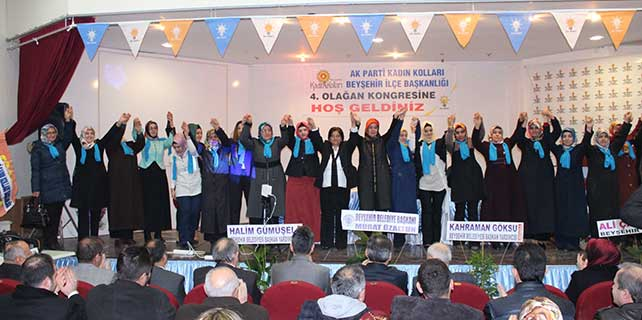 AK Parti Beyşehir Kadın Kolları Başkanı Semra Acır güven tazeledi