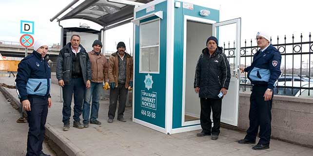 Aksaray'da toplu ulaşım hareket noktaları yenilendi
