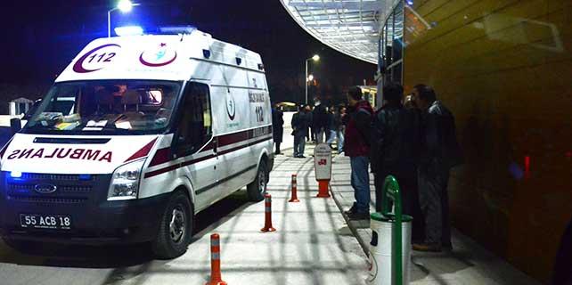 Alaçam'da trafik kazası: 1 yaralı