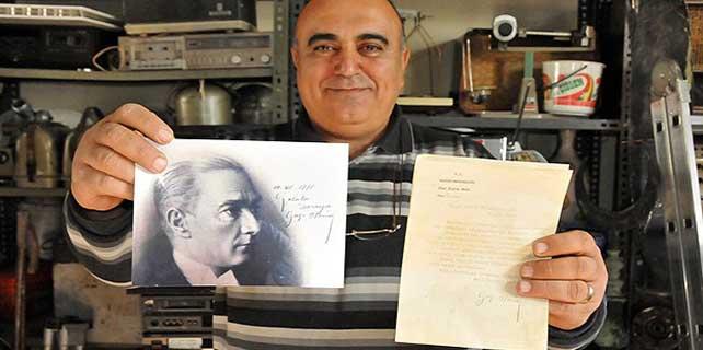 Atatürk'ten o takıma teşekkür yazısı