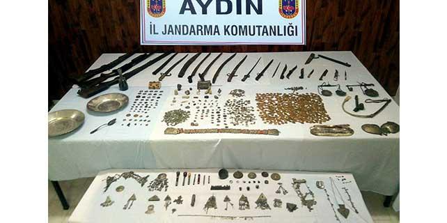 Aydın'da 1659 parça tarihi eser ele geçirdi