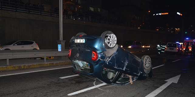 Aynı kazada 2 araç takla attı, biri çocuk 4 kişi yaralandı