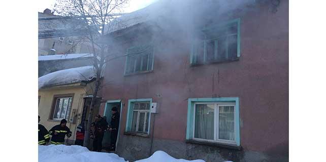 Bozüyük'te ev yangını