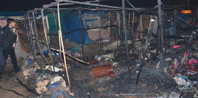Çadır yangını: 2 ölü