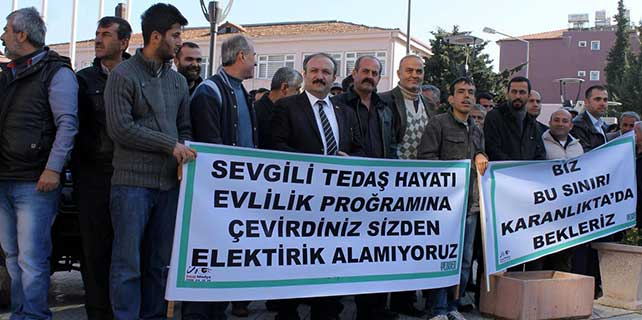 Hatay'da elektrik kesintileri protesto edildi