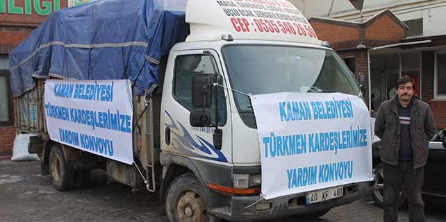 Kaman'dan Iraklı Türkmenlere yardım