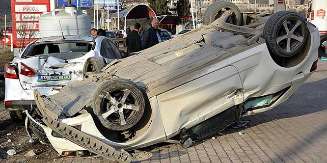Karabük'te otomobil devrildi: 1 yaralı