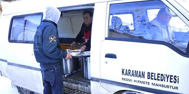 Karaman Belediyesinden ihtiyaç sahiplerine yemek hizmeti