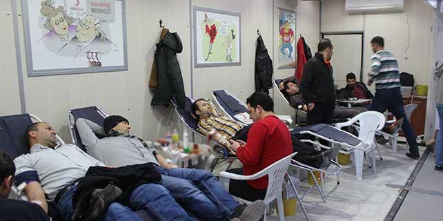 Karapınar'da kan bağışına yoğun ilgi
