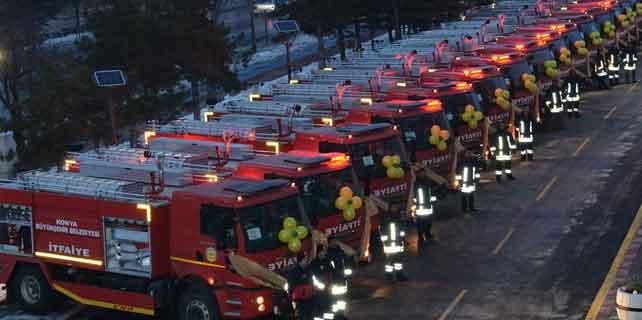Konya Büyükşehir Belediyesinden 33 yeni itfaiye aracı