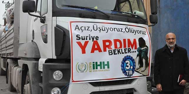 Konya İhh Suriye'ye 1 tır insanı yardım gönderdi