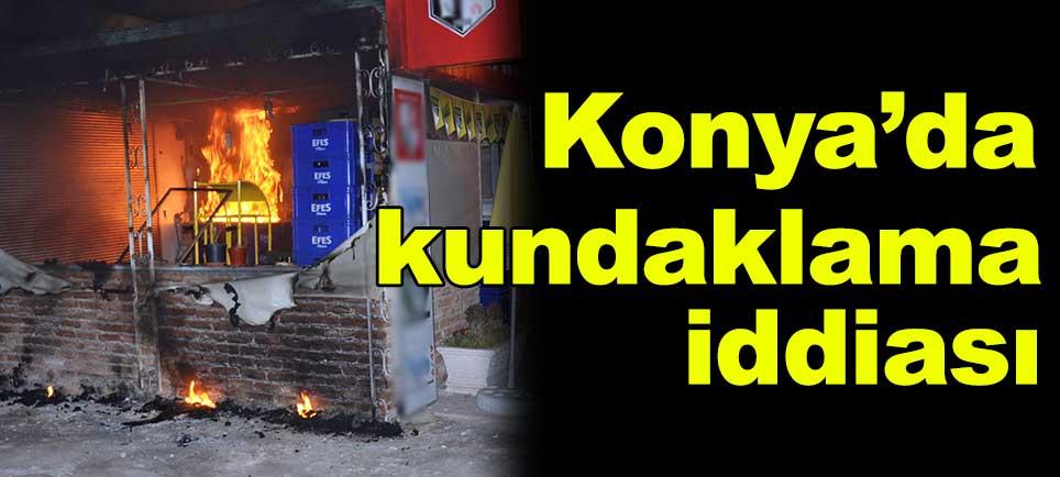 Konya'da kundaklama iddiası