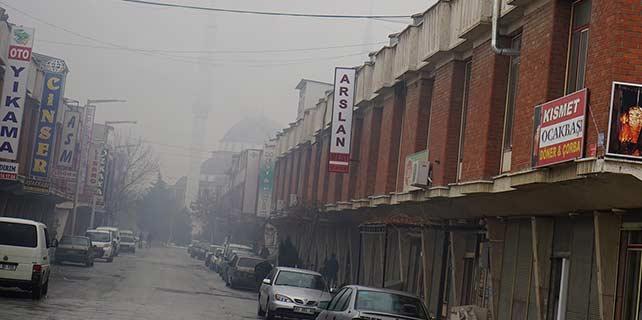 Konya'da sanayilerde hava kirliliği denetimi
