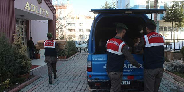 Konya'da usulsüz üretilen 58 av tüfeği ele geçirildi
