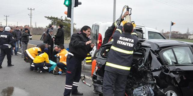 Konya'da zincirleme trafik kazası: 7 yaralı