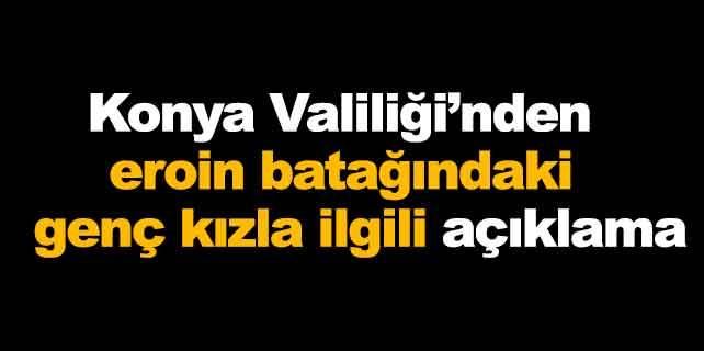 Konya'daki uyuşturucu bağımlısı genç