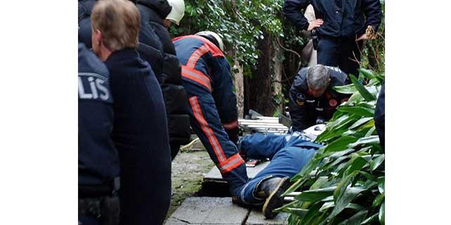 Köşkün bahçesindeki kuyuya düşen kadın kurtarıldı